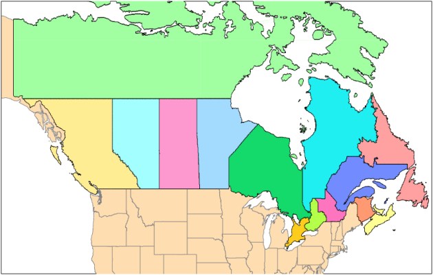 Canada 700 MHz License Areas