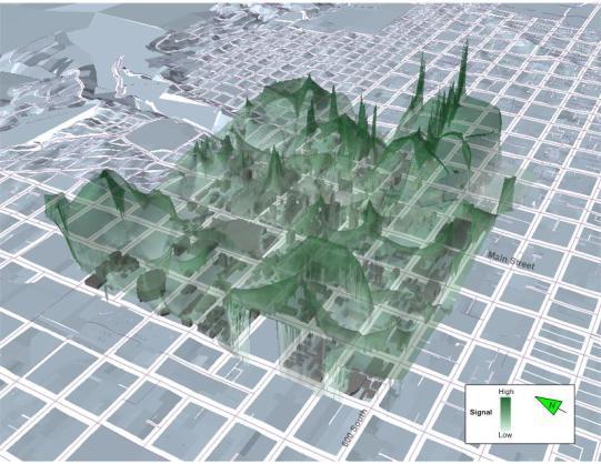 WiFi Signal Map of Downtown Salt Lake City