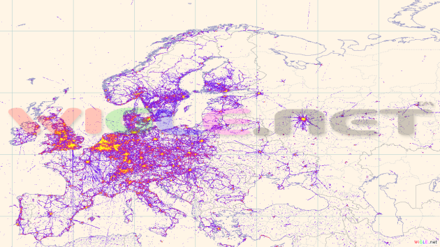 Europe WiFi Deployment Map
