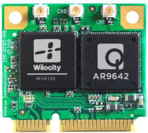 Tri-band 2.4/5/60 GHz wireless module from Wilocity / Qualcomm-Atheros